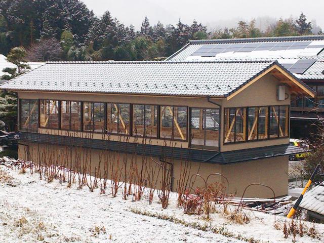 柿干し小屋 下條村 新築施工事例